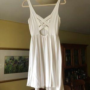White ASOS Skater Tank Dress